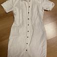 Отдается в дар платье белое лен