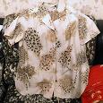 Отдается в дар Блузка рубашка с коротким рукавом
