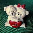 Отдается в дар Фигурка «Влюбленные мишки»