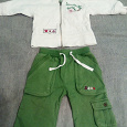 Отдается в дар Бело-зеленый костюм и красные брюки