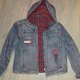 Отдается в дар Куртка джинсовая р-р 140-150