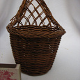 Отдается в дар плетёная вазочка-кашпо