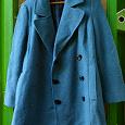 Отдается в дар Демисезонное пальто бирюзовое 44-46