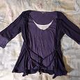 Отдается в дар Кофточка серо-фиолетового цвета в стиле бохо.