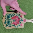 Отдается в дар Деревянная декоративная доска с росписью