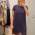 Отдается в дар Платье темно-синее, размер 40-42