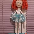 Отдается в дар Кукла ручной работы текстиль проволочный каркас