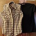 Отдается в дар Рубашка и футболка 44 размер