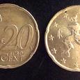 Отдается в дар Монеты. Евро центы. 20 и 50.