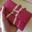 Отдается в дар Кошелек розовый, новый, кожаный