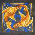 Отдается в дар Вышивка — знак зодиака «Рыбы»