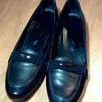 Отдается в дар чёрные кожаные ботинки размер 41