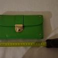 Отдается в дар Зеленый кожаный кошелек