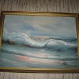 Отдается в дар Картина (репродукция?) на морскую тематику.