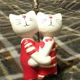 Отдается в дар Держатель для фото (влюбленные коты)