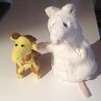 Отдается в дар Маленькие игрушки жирафик и мышка