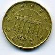 Отдается в дар 20 евроцентов Германия 2006 F