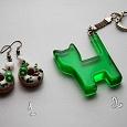 Отдается в дар Брелок и серьги в зеленых тонах