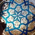 Отдается в дар тарелка с росписью витражными красками