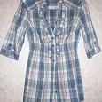 Отдается в дар Клетчатая блузка рубашка 42-44