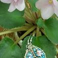 Отдается в дар серьги финифть «розочки на голубом»