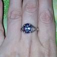 Отдается в дар серебряное кольцо с мистик-топазом размер 17.5