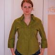 Отдается в дар Зеленая рубашка 100% хлопок, 44-46 размер, легкая