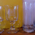 Отдается в дар Новые бокалы для глинтвейна и стаканы для воды/сока.