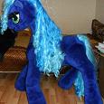Отдается в дар мягкая игрушка — флисовая игрушечная пони (лошадь)
