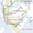 Отдается в дар Карта метрополитена в Нью-Йорке