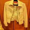 Отдается в дар Куртка женская белая кожзам размер 42-44