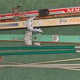 Отдается в дар Лыжи 3 пары с палками + лыжная мазь