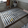 Отдается в дар Двуспальная кровать nyvoll ikea