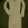 Отдается в дар белое трикотажное платье на худышку