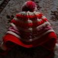 Отдается в дар шапка для девочки 4-5 лет.зимняя