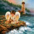 Отдается в дар Схема для вышивания «Ангел у моря»