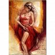 Отдается в дар Картина из пазлов «Испанская танцовщица»