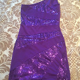 Отдается в дар платье фиолетовое с пайетками, размер 40-42