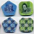 Отдается в дар Пластиковые монеты Приднестровья 10 и 3 рубля