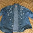 Отдается в дар женская джинсовая рубашка большого размера