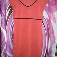 Отдается в дар Платье трикотажное короткое терракотового (кирпично-красного) цвета