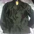 Отдается в дар пиджак для мальчика черный стрейч-атлас