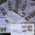 Отдается в дар конверты с марками б/у и марки с конвертов б/у