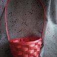 Отдается в дар Корзинка плетеная красная