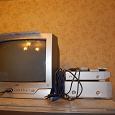 Отдается в дар Телевизор, DVD-плеер, VHS-магнитофон