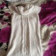 Отдается в дар Белое вязанное платье 44 размер