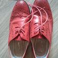 Отдается в дар Красные ботинки 36 размера из натуральной кожи.
