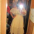 Отдается в дар Платье-сарафан цвета «шампань» 46-48 размера