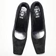 Отдается в дар Туфли женские черные замшевые размер маркирован 35