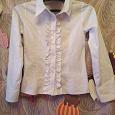 Отдается в дар Детская белая блуза 34 размер